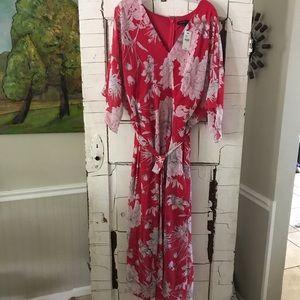 Lane Bryant pink floral dress 26